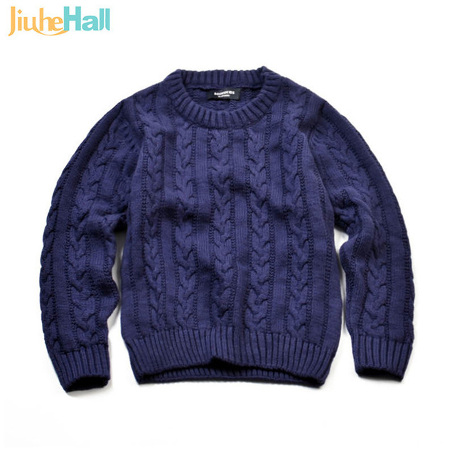 Jiuhehall Autumn Winter New Arrival Children's Twist Knitted Sweater Kid Thicken Warm Sweater Long Sleeve Baby Pullover CMB202