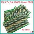 4PCS/a lot 1S 3.7V 3A  li-ion BMS PCM  battery protection board  pcm  for 18650 lithium ion li battery