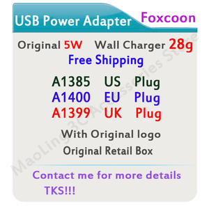 Power-Adapter Wall-Charger A1400 Us-Plug Original 28g A1399 A1385 UK AC USB for Ix 11-x-xs/Xr/I8/I7-plus
