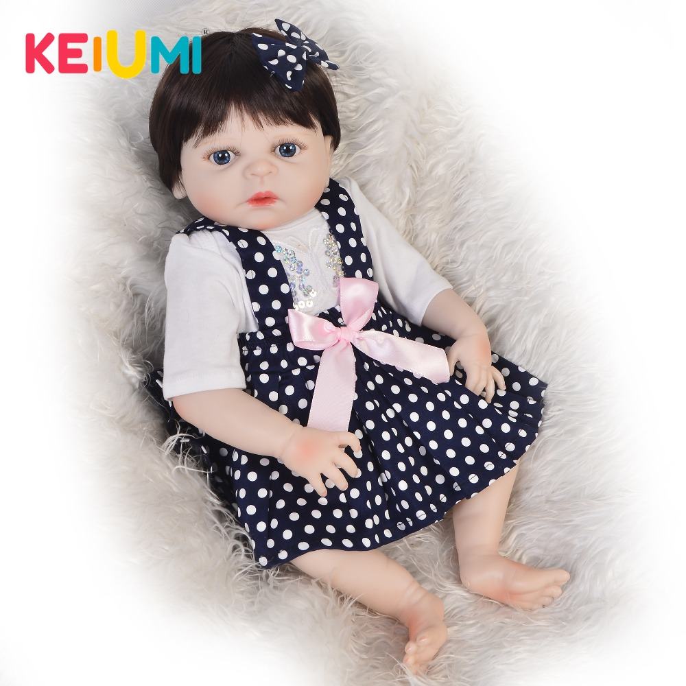 KEIUMI Hot Sale Reborn Baby Doll Silicone Full Body Realistic Princess Girl Baby Doll For Kid