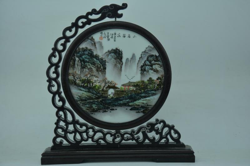 Peinture Antique en porcelaine chinoise ancienne #7, vue, artisanat peint à la main, décoration de la maison, collection et parure