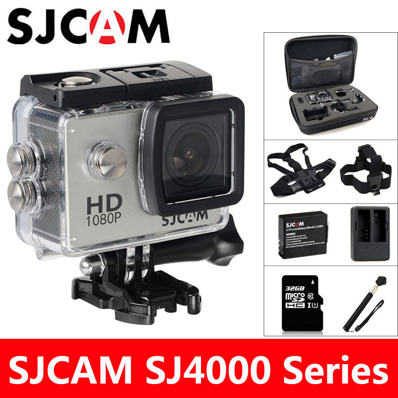 SJCAM SJ4000 Action Camera 1080P Sports DV 30M Waterproof HD mini Camcorder Original SJ 4000 2.0 inch Extreme Helmet Cam