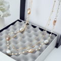 New 2016 Fashion Women Vintage Jewelry  Long Simulated Pearl Necklace Beads Sweater Chain Necklaces Pendants  X021