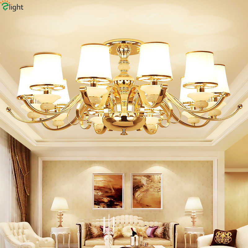 Modern Lustre Gold Metal Led Ceiling Chandeliers Lamp Marble Living Room Led Chandelier Lighting Dining Hanging Lights Fixtures