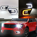 Acender As Luzes de alta Qualidade LED Daytime Running Luz Impermeável DRL Para Dodge Journey Fiat Freemont 2014 2015 2016 Carro-styling