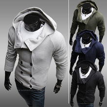 2014 Sale Hoodies Moleton Hoodie Autumn with A Hood Sweatshirt Fashionable Cardigan Men's Clothing Slim Outerwear Personality