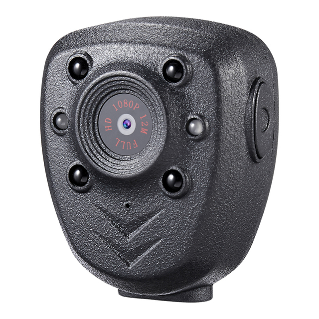 HD 1080P Police Body Lapel Worn Video Camera DVR IR Night Visible LED Light Cam 4-hour Record Digital Mini DV Recorder Voice 1 1
