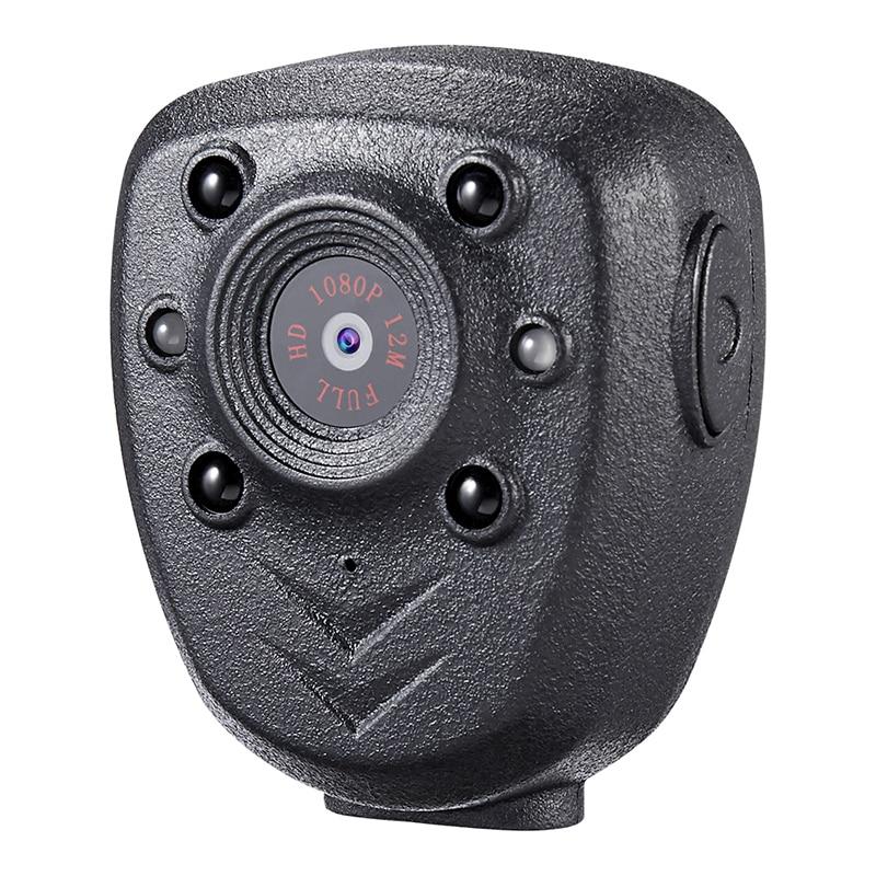 HD 1080P Police Body Lapel Worn Video Camera DVR IR Night Visible LED Light Cam 4-hour Record Digital Mini DV Recorder Voice 1