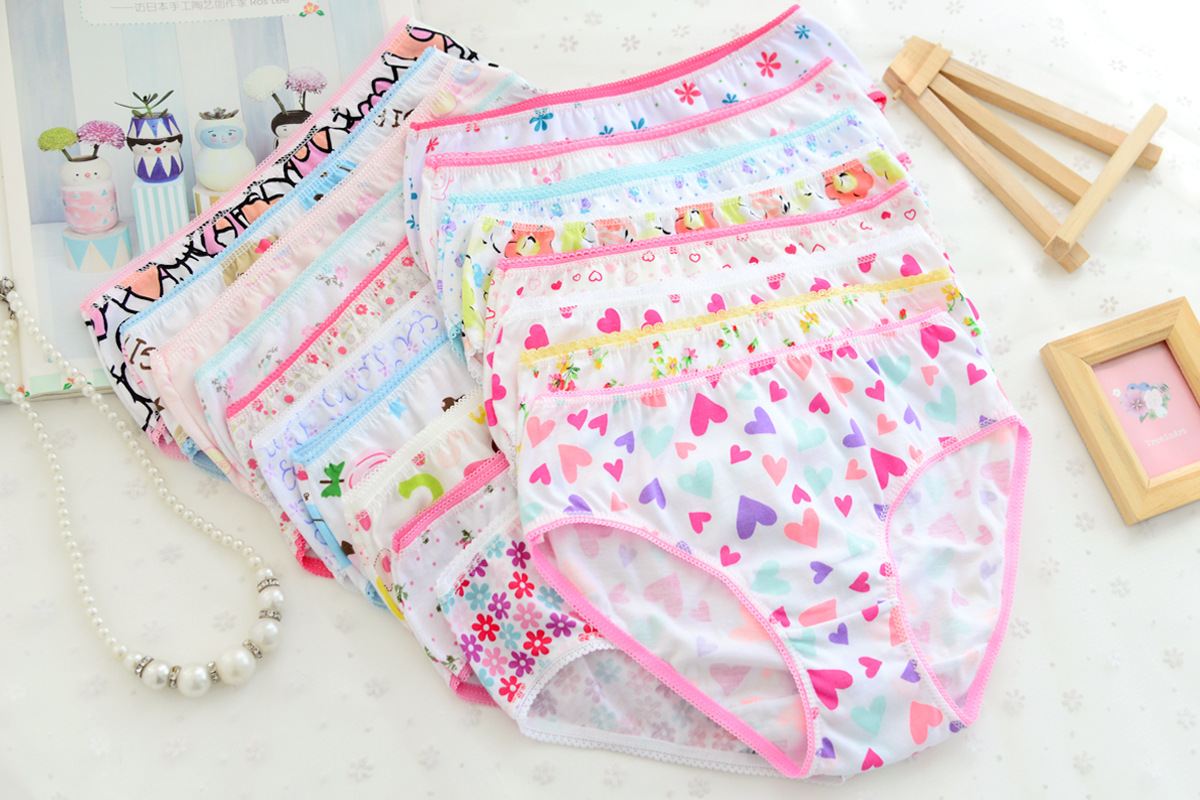 3pcs / pack 2016 Fashion New Baby Girls Underwear Cotton Panties For Girls Kids Brief Briefs Baby Toddler Underpants