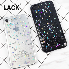 Glitter Case For iphone 6 Case For iphone 6S 7 7 PLus Back Cover Luxury Love Heart Shining Powder Phone Cases