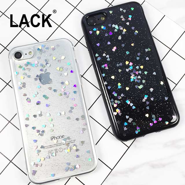 Luxury Love Heart Glitter Case For For iPhone