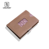 LLH New product trifold wallets cowhide leather ID Cash Holder man Slim Wallet Money Clip Minimalist Life style Credit wallets