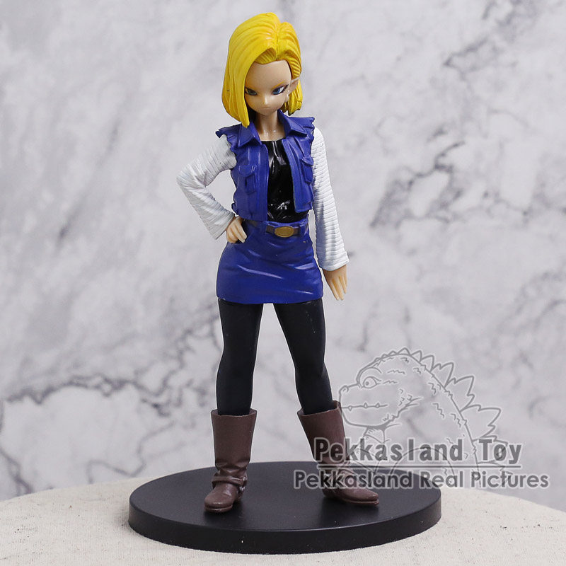 Dragon Ball Z KAI <font><b>DX</b></font> Android NO.18 PVC Figure Collectible Model <font><b>Toy</b></font> 19cm image