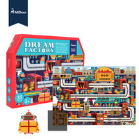 35 Pieces Big 3D Puzzle for Little Kids Dream Factory Puzzle Games for Kids Educational Toys Puzzles for Boy Oddler Toys