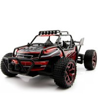 RC Truck 1/18 Scale Electric RC Truck 2.4Ghz 4WD High Speed RC Buggy Toy Red Gift For Children