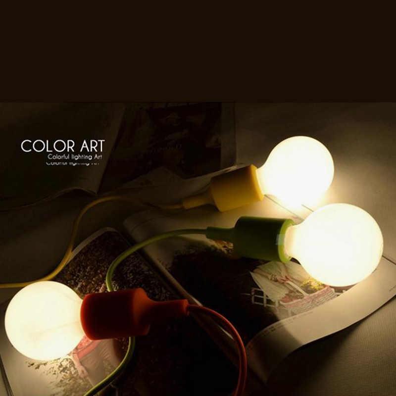 Красочные Эдисона современные подвесные светильники винтажные силиконовые лампы разъем подвесной светильник E27 висячая лампа креативная лампа «сделай сам» держатель