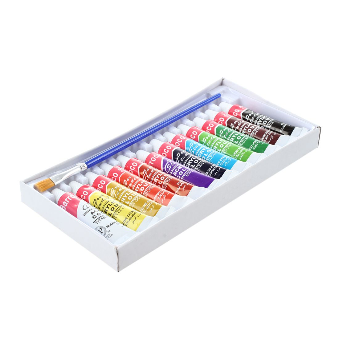6 ML 12 Colors Professional Acrylic Paints Set Hand Painted Wall Painting Textile Paint Brightly Colored Art Supplies Brush 18 colors 12ml acrylic paints set paints wall textile spray paint fabric paint art supplies with gift brush