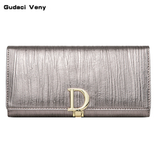 2019 new fashion ladies wallet womens long leather European and American large-capacity clutch