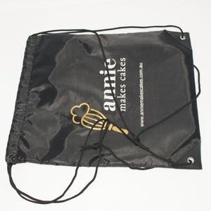 Image 2 - 100pcs/Lots Custom Kids Cloth Drawstring Bags with Printing Logo String Backpack Bag For Girls