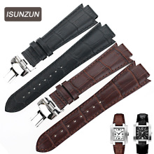 ISUNZUN Watch Band For Tissot 1853 T60 Genuine Leather Watch Strap For Men And Women 14MM Watch Band Fashion Watchbands цена и фото