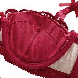 Женские Романтические бюстгальтеры пуш-ап, комплекты кружевных бюстгальтеров с вышивкой, комплекты сексуального нижнего белья 5