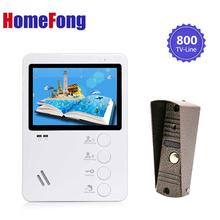 Homefong 4,3 дюймов видеодомофон домофон видео дверной звонок камера всепогодный ночное видение видеодомофон
