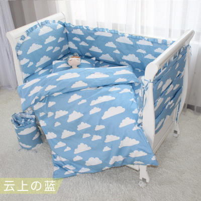 Promotion! 9PCS Whole Set Cotton Baby Cot Bedding Set baby bedclothes Cot bed Sheet crib bedding set,4bumper/sheet/pillow/duvet promotion velvet cotton baby cot bedding set crib bedding quilt pillow cot bed sheet bumper sheet pillow duvet 2 size