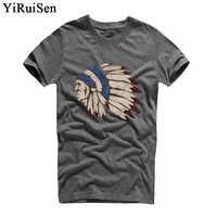 Camisetas para Hombre moda 2018 YiRuiSen marca de Hombre de manga corta Camiseta para Hombre Casual 100% algodón camiseta Tops Camisetas Hombre camisa