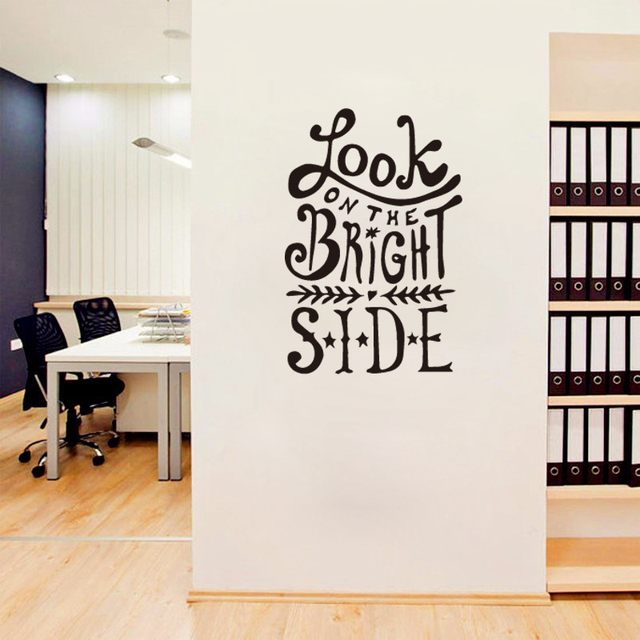 Look On The Bright Side Quote Personalized Home Vinyl Wall - Custom vinyl wall decals diy
