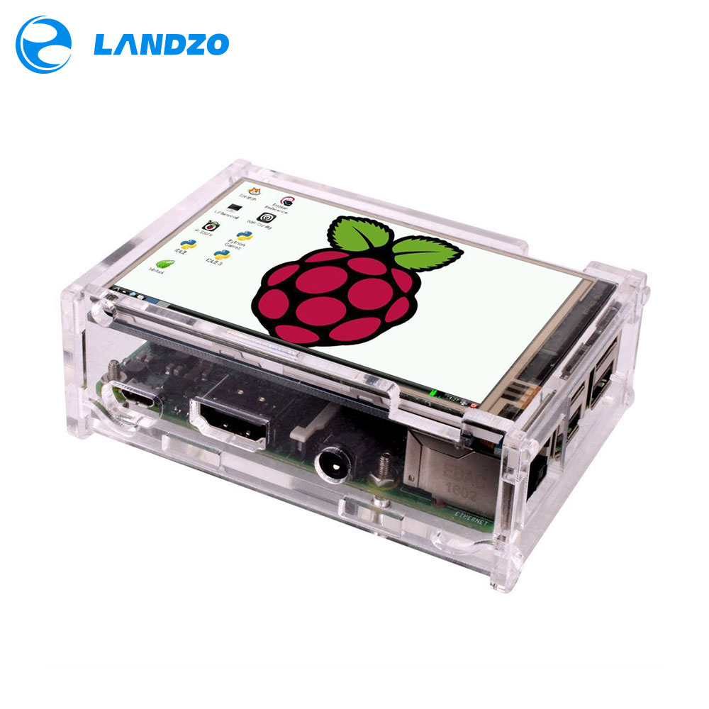 LANDZO Electronic Technology Co.,Ltd Raspberry Pi 3 Transparent Acrylic Case for 3.5 inch Touchscreen  Raspberry Pi Clear Enclosure Box 3.5\