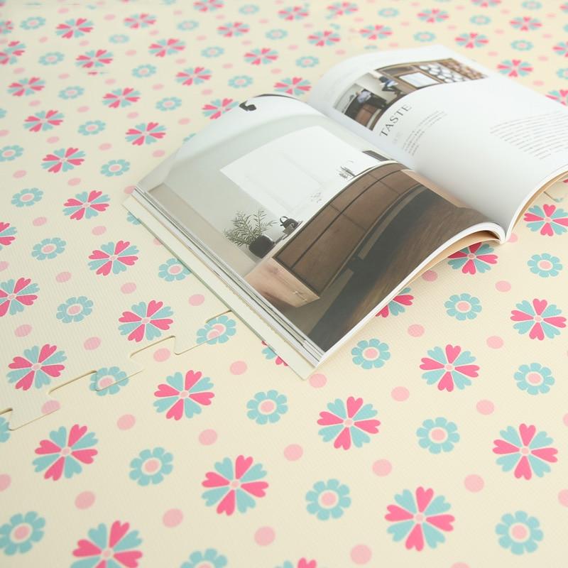 JCC Baby EVA putų galvosūkis Žaisti kilimėlį / gėlių vaikus Kilimėlių žaislai Kilimų ir kilimėlių blokavimo pratimai grindų plytelės, kiekvienas: 30cmX30cm (be krašto