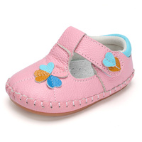 Baby Girl Shoes First Walker Cute Cartoon Flower Soft Shoes For Children Genuine Leather Footwear Toddler