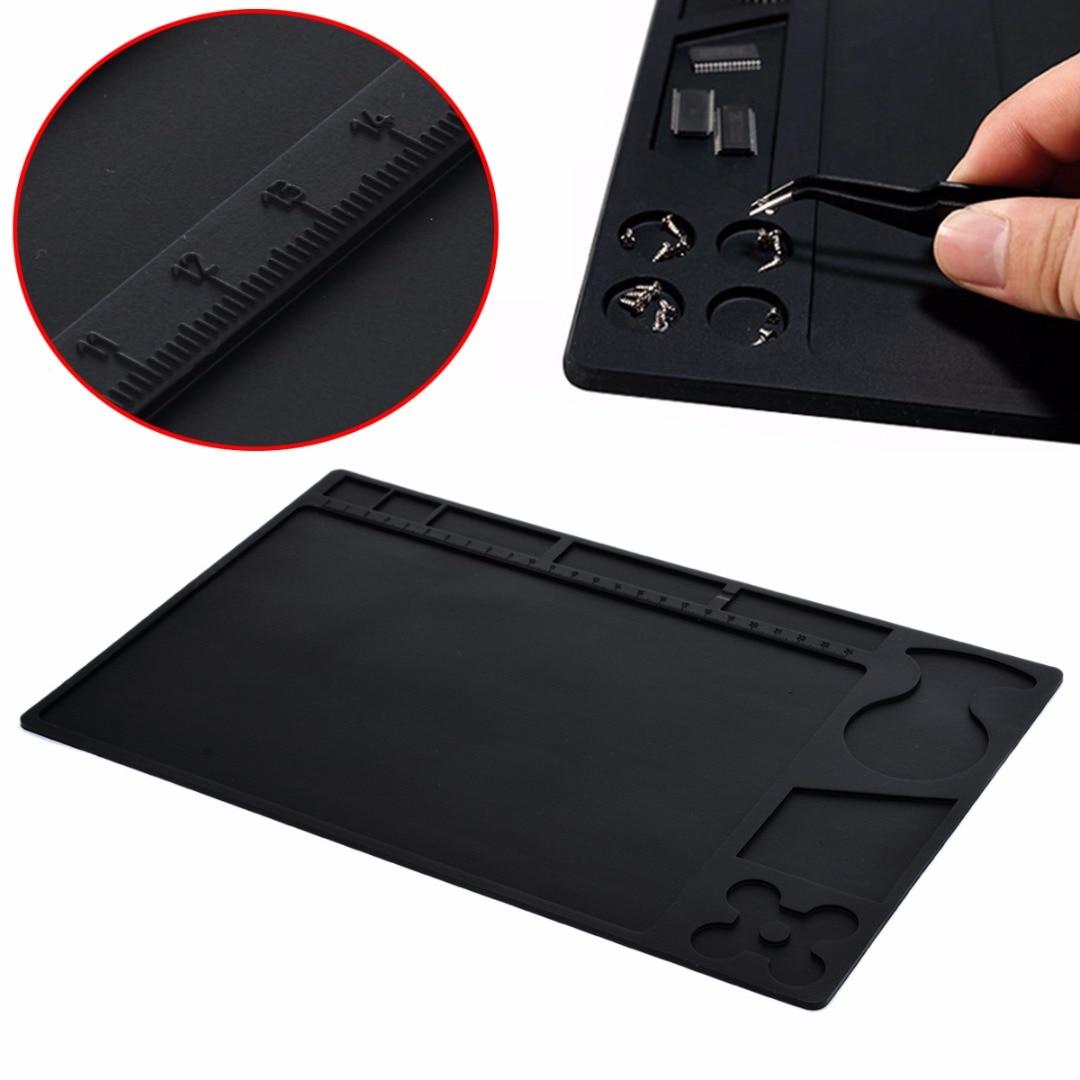 1pc Anti-static Heat Insulation Pad Heat Resistant Silicone Soldering Mat Pad Heat Gun BGA Soldering Station Repair Tools