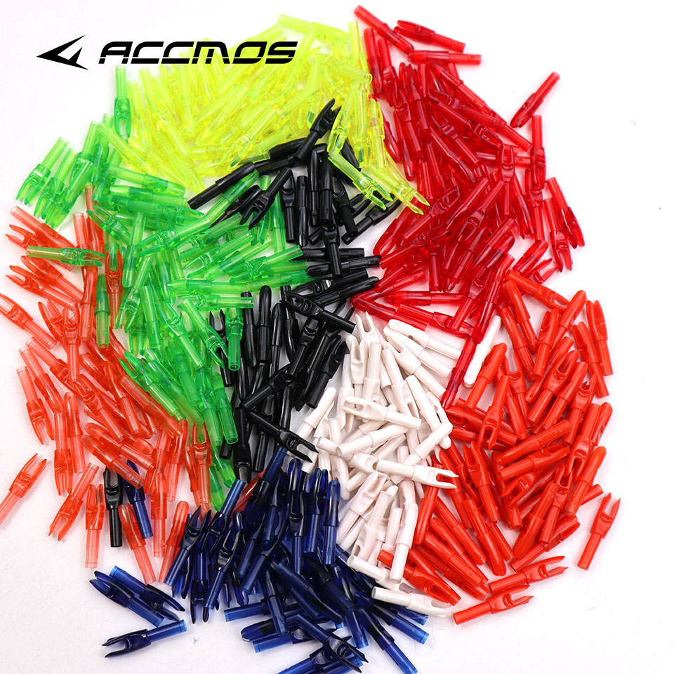 50pcs/lot 8Color, ID 4.2mm Archery Carbon Fiberglass Arrow Nocks Internal For Shaft Free Shipping