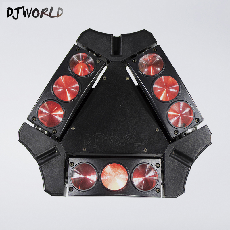 Mini Moving Head Led Spider Light 9x10W 4in1 RGBW Led Party Light DJ Lighting Beam Moving Head DMX DJ Light super brightness 4x10w rgbw led mini beam moving head dj light led wash disco lighting led display dmx dj equipment for party