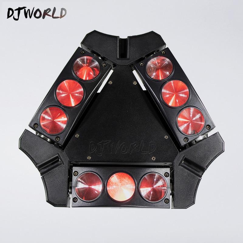 Mini Tête Mobile Led Araignée Lumière 9x10 w 4in1 RGBW Led Light Party DJ Éclairage Faisceau Mobile Tête DMX DJ Lumière