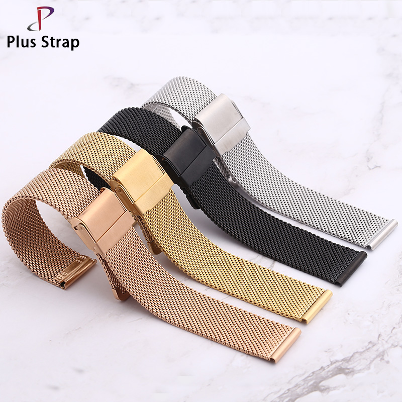 Plus Strap Campus Aimplicity Multi Size 316L Stainless Steel Fashion Style Watch Strap DW For Men Women 4 Colors Watchband plus size color block multi strap tankini