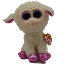 "Pyoopeo Ty Beanie Boos 6"" 18cm DARIA the LAMB / SHEEP Beanie Baby Plush Stuffed Doll Toy Collectible Soft Big Eyes Plush Toys"