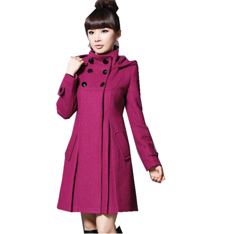 New Fashion Long Trench Coat For Women 2019 Spring Autumn Women's Wool Blend Overcoat Female Double Breasted Trenchcoat Femme
