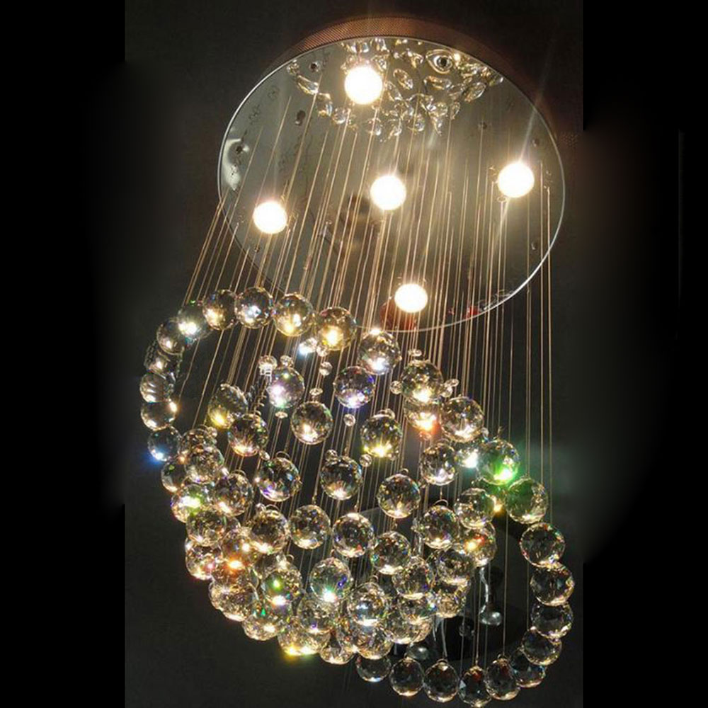 50200cm spiral rain drop chandelier modern crystal chandeliers d60h100cm art deco chandelier luxury crystal ball dangle marry romantic luminaire decoration luster pendant arubaitofo Gallery