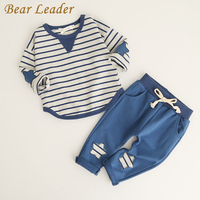 Bear Leader Boys Clothing Sets 2017 Fashion Style Kids Clothing Sets Long Sleeve Striped T Shirt