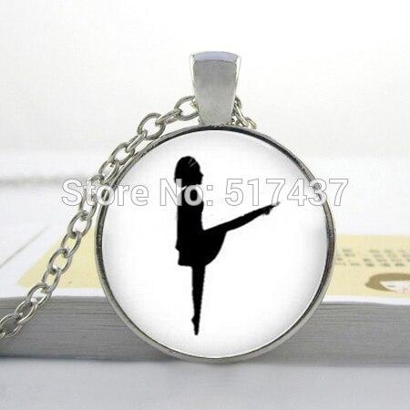 23df6cdd28 1 unid Arte Cabujón de Cristal Collar de Moda Al Por Mayor de Baile  Irlandés Colgante negro de Baile Irlandés Joyería Cristal de la Foto Collar  Cabochon