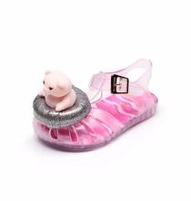 Mini Melissa 3D Cartoon Girls Casual Sandals Summer Strap Soft Bottom Spring New Baby Kids