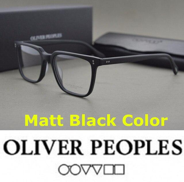 f35755420e7 No burden eyeglasses frames Brand Oliver Peoples NDG-1-P Square Vintage  Myopia Glasses