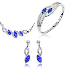Летние модные брендовые свадебные серьги в форме конского глаза с подвеской в виде капли воды, комплекты ювелирных браслетов
