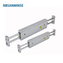 CXSW 6-10 Double Cylinder Ningbo SANMINSE Cylinder cy1l 10 0 100 rodless cylinder ningbo sanminse cylinder