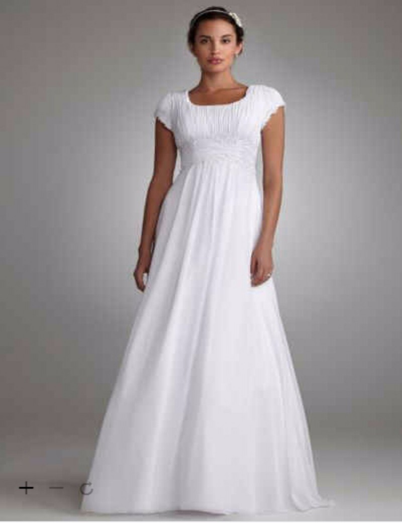 Custom made 2016 new free shipping short sleeved empire waist custom made 2016 new free shipping short sleeved empire waist chiffon wedding gown style slv9743 wedding dresses in wedding dresses from weddings events ombrellifo Gallery