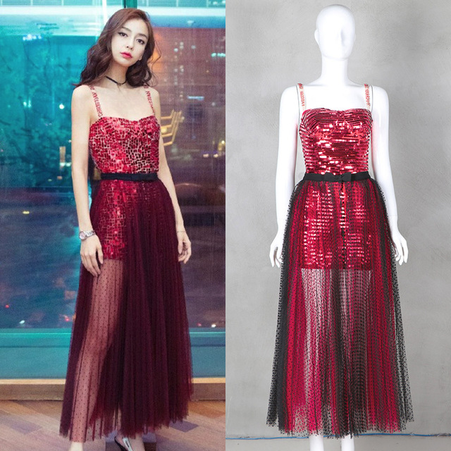 Wholesale & Retail 2018 Spring and Summer New Fashion Sequins Two-Piece Dress Women Set Free Shipping