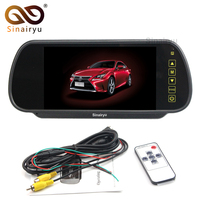 DC 12V 7 TFT LCD Color Car Mirror Monitor Rear View Display Screen With 2 Channels