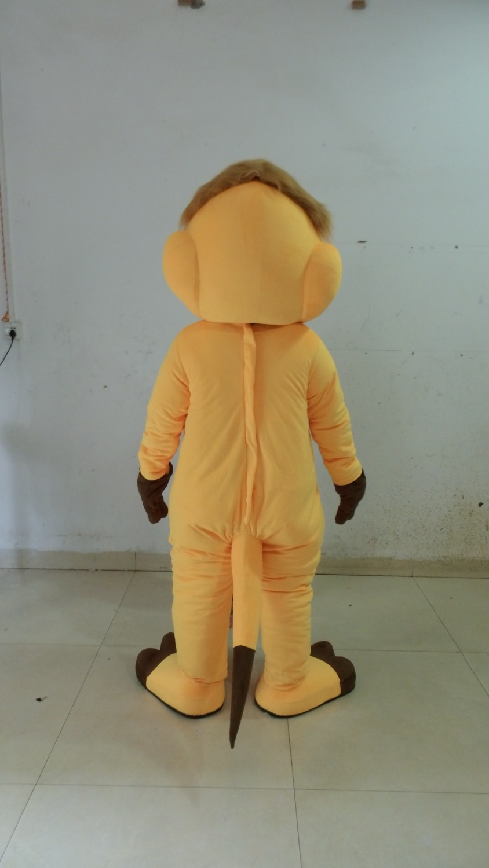 Joli Costume de mascotte de renard jaune avec petit nez noir blanc gros ventre jaune Shorts violet chaussures taille adulte livraison gratuite - 3